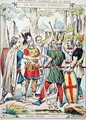 Gaulish warriors swearing an oath from a protective sleeve for school books - H. and Louis, R. Feist