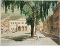 Commercial Square the Commercial Library and the Main Guard City of Gibraltar - Thomas Colman Dibdin