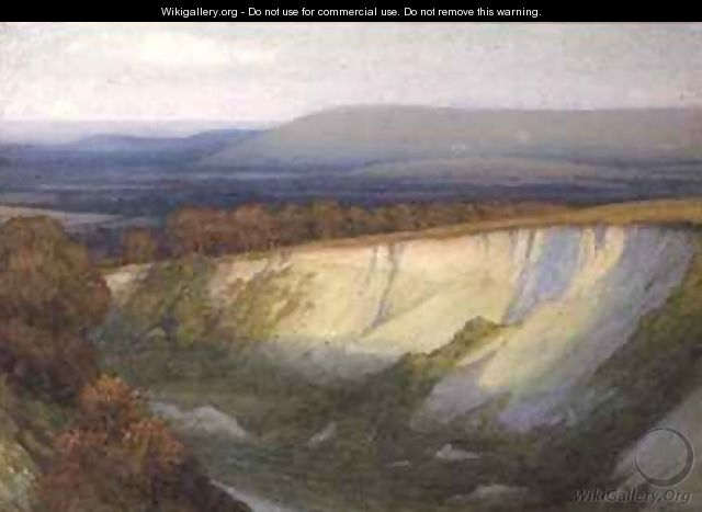 Evening Light Falling on a Quarry - Sir Frank Dicksee