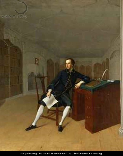 Sir Roger Newdigate 1719-1806 in the Library at Arbury - Arthur Devis