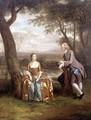 Portrait of a Couple possibly Daniel and Mary Swaine of Leverington Hall Isle of Ely Cambridgeshire - Arthur Devis
