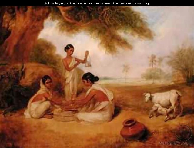 Grinding Corn - Arthur William Devis