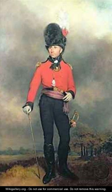 Portrait of William Pitt Earl Amherst of Arracan 1773-1857 in the uniform of the St Jamess Loyal Volunteer Regiment - Arthur William Devis