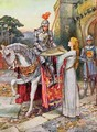 Sir Lancelot Gives his Shield into Elaines Keeping - Arthur A. Dixon