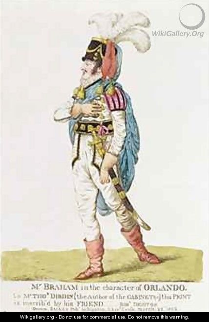 M John Braham 1777-1856 the character of Orlando - Robert Dighton