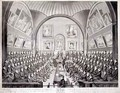 The Lord Mayor Aldermen and Common Council in the Council Chamber Guildhall London - (after) Dighton, Richard