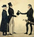 Three Gentlemen Greeting Each Other - Richard Dighton