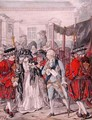 Margaret Nicholson Attempting to Assassinate His Majesty George III 1738-1820 at the Garden Entrance of St Jamess Palace - Robert Dighton