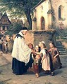 The Childrens Greeting - Jakob Furchtegott Dielmann