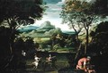 Landscape with Boats or Landscape with Hunting Scene - Domenichino (Domenico Zampieri)