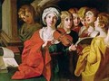 St Cecilia with a Choir - Domenichino (Domenico Zampieri)