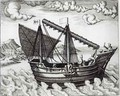 A Chinese Junk - Johannes Baptista van, the Younger Doetechum