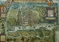 Map of the City and Portuguese Port of Goa India - Johannes Baptista van, the Younger Doetechum