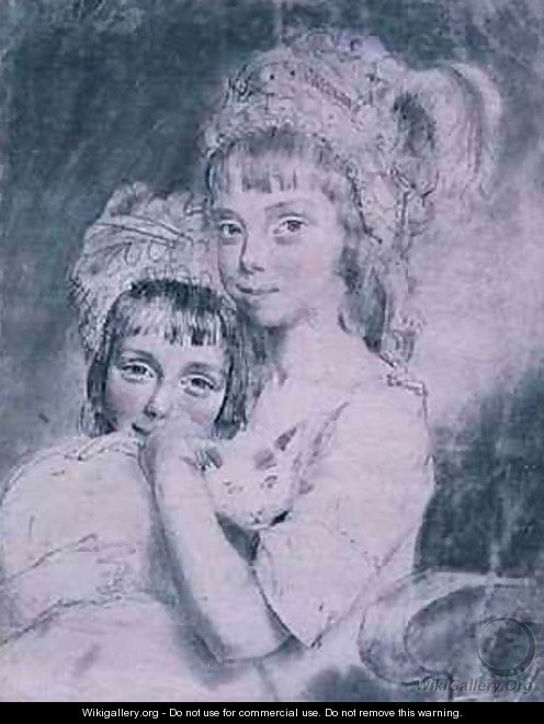 No 1843 The Two Miss Comparts - John Downman