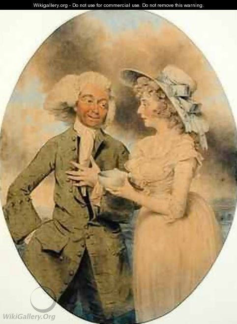 John Edwin and Mrs Wells as Lingo and Cowslip in the Agreeable Surprise - John Downman