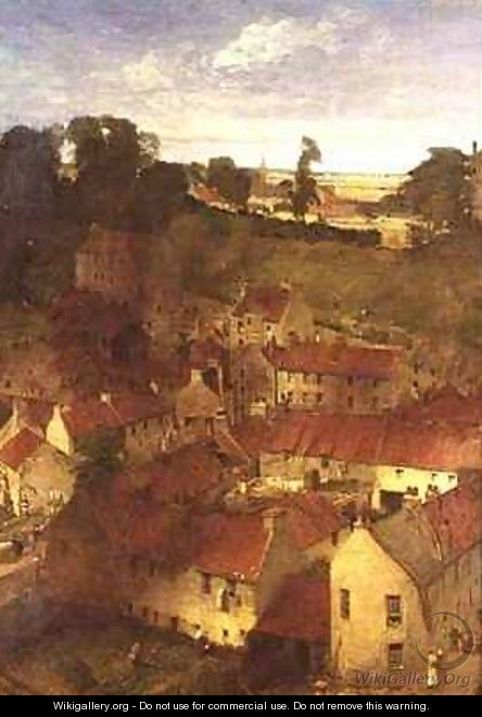 The Village of the Water of Leith from a Window in Rothesay Terrace - William Fettes Douglas