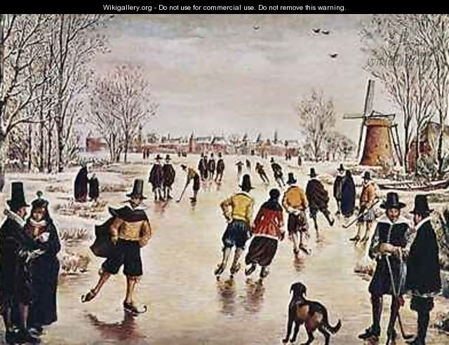 Ice Skating on the Zuidersee - Jan van Dorph