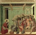 Maesta Christ Washing the Disciples Feet - Buoninsegna Duccio di
