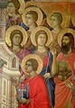 Maesta Detail of Saints including St John the Baptist - Buoninsegna Duccio di