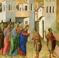 Jesus Opens the Eyes of a Man Born Blind 4 - Buoninsegna Duccio di