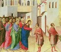 Jesus Opens the Eyes of a Man Born Blind 2 - Buoninsegna Duccio di
