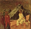 Maesta The Three Maries at Christs Tomb - Buoninsegna Duccio di