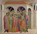 Maesta Judas Receives Thirty Pieces of Silver - Buoninsegna Duccio di