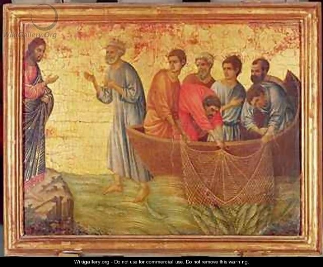 The Apparition on the Lake of Tiberiade - Buoninsegna Duccio di