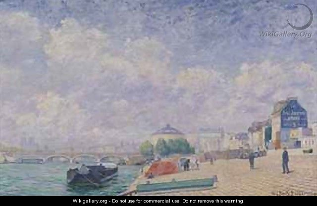 The Seine at Bercy - Albert Dubois-Pillet