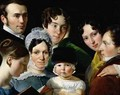 The Dubufe Family in 1820 - Claude-Marie Dubufe