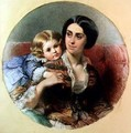 Maternal Tenderness - Edouard Louis Dubufe