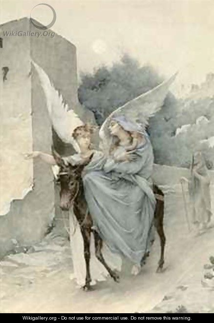 The Flight from Egypt - Edouard-Marie-Guillaume Dubufe