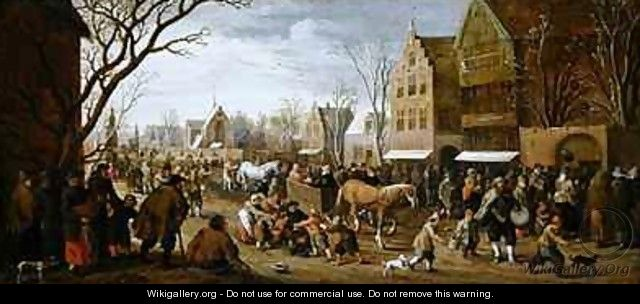 The procession of Lepers on Copper Monday - Joost Cornelisz. Droochsloot
