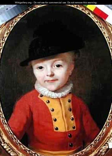 Portrait of a young child - Francois-Hubert Drouais
