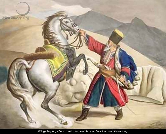 A Tartar with his Horse - (after) Dupre, Louis
