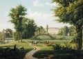View of the Chateau de Villiers Saint Paul near Senlis - Alexandre-Hyacinthe Dunouy