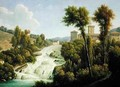 View from the Ile de Sora above the Waterfalls of the Chateau - Alexandre-Hyacinthe Dunouy