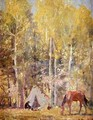 Hunters Camp in Aspen Forest - W. Herbert Dunton
