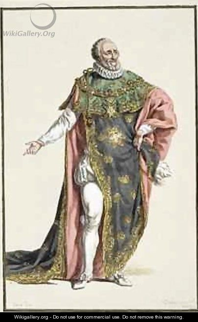 Henri IV 1553-1610 King of France - Pierre Duflos