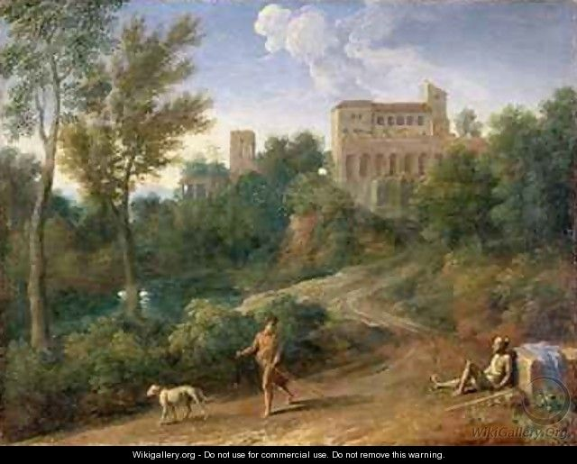 Classical Landscape with Figures - Gaspard Dughet