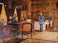 Marshal Ferdinand Foch in his headquarters - Charles Jules Duvent
