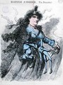 Caricature of Hortense Schneider 1833-1920 from the front cover of Le Drolatique - Durandeau