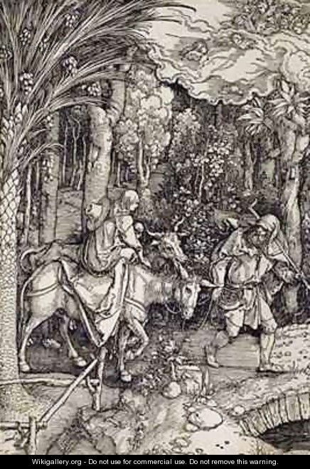 The Flight into Egypt - (after) Durer or Duerer, Albrecht