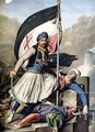 The Greek Rebellion the standard bearer in Salona on Easter day 1821 - (after) Dupre, Louis