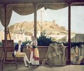 The French Consul Monsieur Fauvel on the terrace of his house in Athens - (after) Dupre, Louis