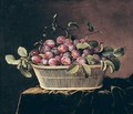 Basket of Plums - Pierre Dupuis