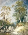 Wooded Landscape with Gypsy Encampment - Thomas Gainsborough