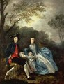 The Artist with his Wife and Daughter - Thomas Gainsborough