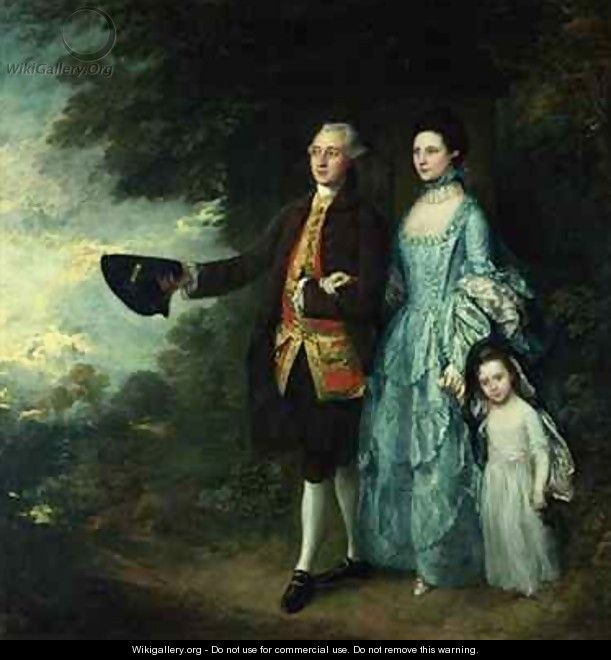 Mr and Mrs George Byam and their eldest daughter Selina - Thomas Gainsborough