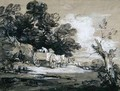 Wooded Landscape with Country Cart and Figures - Thomas Gainsborough